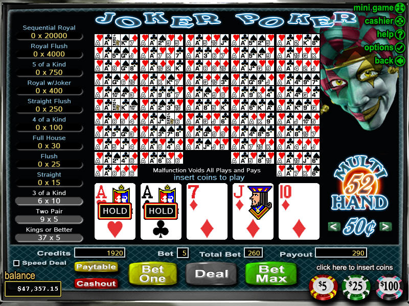 online casino signup bonus joker poker